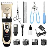 Ceenwes Dog Clippers Low Noise Pet Clippers Rechargeable Dog Trimmer...