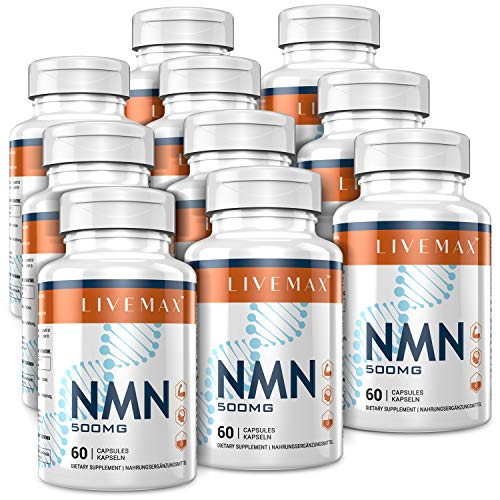 NMN Supplement 500mg- Enhance Concentration, Boost Energy, Improve Memory & Clarity for Men & Women - Your Best NAD Booster (10 Bottles)