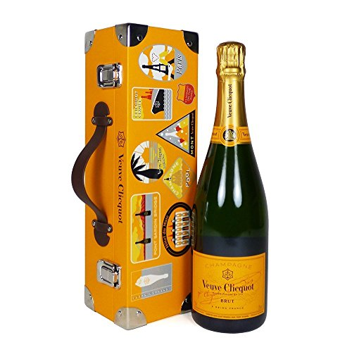 75cl Veuve Clicquot Champagne Brut Gift set in a Limited Edition Trunk Style Carrier Case - Perfect for Mum, Mothers Day, Birthday, Wedding, Anniversary, Corporate, Business