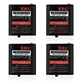 EBL Pack of 4 Two-Way Radio Rechargeable Batteries 3.6V 1000mAh for Talkabout...
