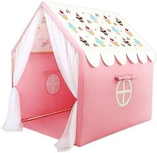Mini barntält, tält blå/rosa tält, tälthus för barn förälder-barn läsning hörn utomhustält lysande mönster/efterrätt kakmö...