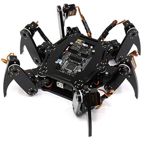 Freenove Hexapod Robot Kit (Compatible with Arduino IDE Raspberry Pi OS), App Remote Control, Walking Crawling Twisting Spider Servo Stem Project