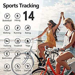 Lintelek Fitness Tracker with Heart Rate Monitor, Activity Tracker with Connected GPS, IP67 Waterproof Fitness Watch with Calorie Counter, Pedometer for Men, Women and Gift