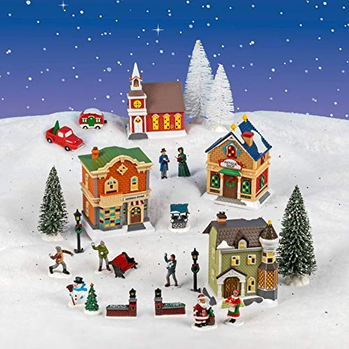 Again Products Cobblestone Corner Christmas Village Collection
