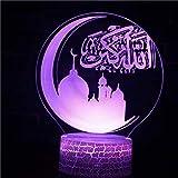 Cartoon Cute Moon Star Frohe Weihnachten Kinder Geschenk Schlafzimmer Kinder Dekoration Geburtstag Arabische Tischlampe 3D LED Nachtlicht Licht