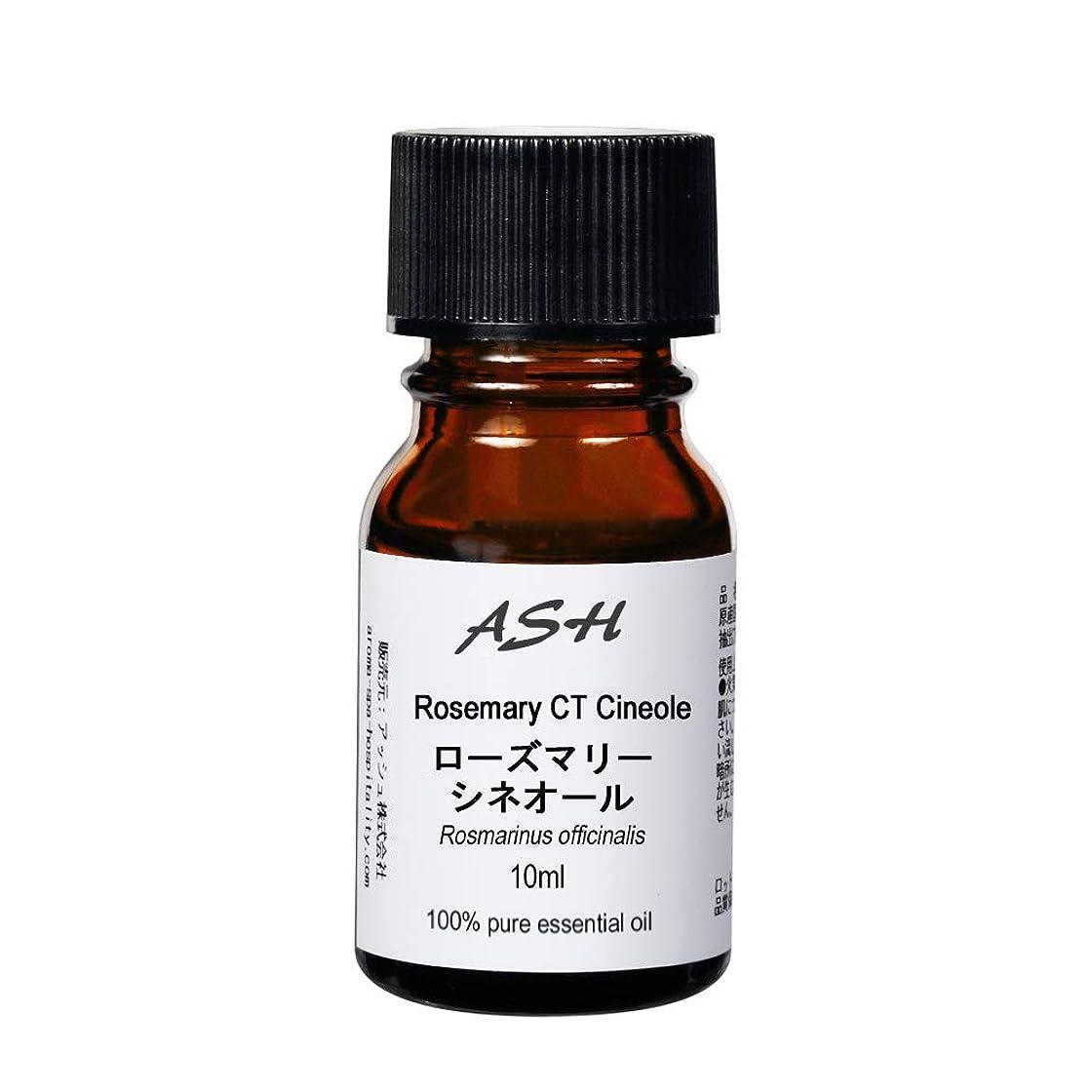 破壊的あご頬ASH ローズマリー (CTシネオール) エッセンシャルオイル 10ml AEAJ表示基準適合認定精油