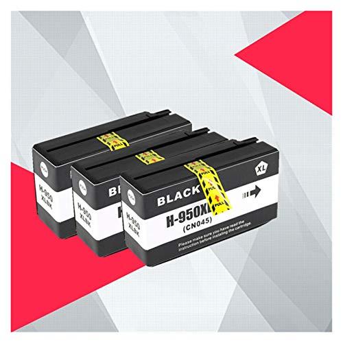 CMDZSW Compatible para HP 950XL 951XL 950951 Cartucho de Tinta OfficeJet Pro 8100 8600 8610 8615 8620 8625 251DW 276DW para HP950 (Color : 3PCS Black)