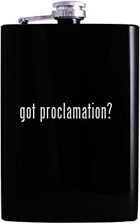 got proclamation? - 8oz Hip Alcohol Drinking Flask, Black