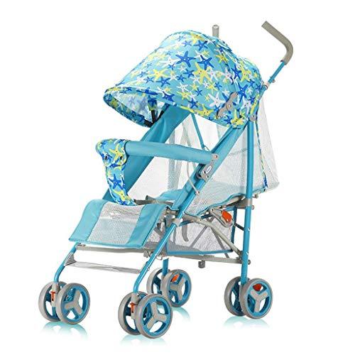 N/ A Landau et Poussette pour Tout-Petits Chariot Pliant et léger pour bébé Assis et allongé 0-3 Ans(Couleur:Rose)