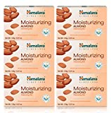 Himalaya Moisturizing Almond Cleansing Bar, Face and Body Soap for Soft Skin, 4.41 oz, 6 Pack, White (EM SOAP)
