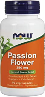 NOW Supplements, Passion Flower 350 mg, 90 Veg Capsules