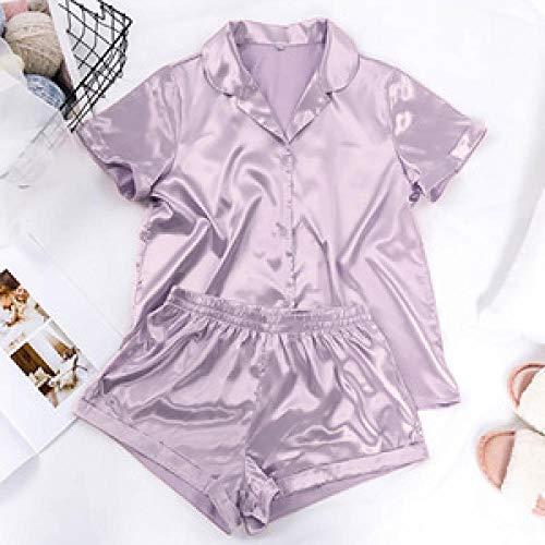 CCFF Conjuntos de Ropa de Dormir Pijamas Ocasionales Sueltas de Las Mujeres-Púrpura Superficial_SPijama Lactancia