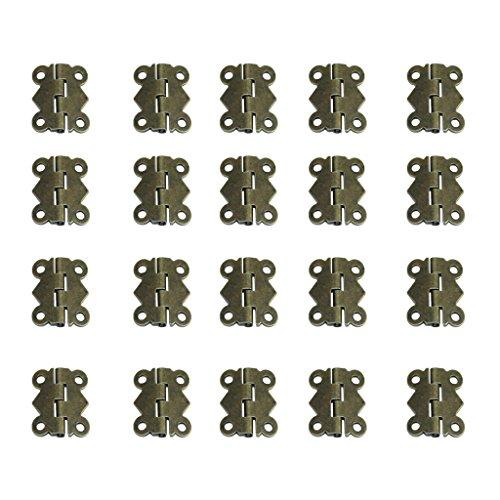 Amuzocity Cerniere Per Armadio 20 Ante Antiche A Farfalla Con 80 Viti - Bronzo