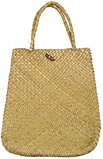 | Storage Baskets | Handmade Rattan Storage Basket Luxury Bags Straw Woven Handbag Seagrass Women Shoulder Bag Wicker Girl Hanging Storage Bag | by HERIUS