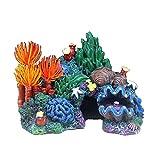 URNOFHW Acuario Coral Conch Shell Decoración de Rockery Resin Artificial Edificio Rocas Cueva Acuario Fish Tank Adorno Adorno Decoración (Color : 1)