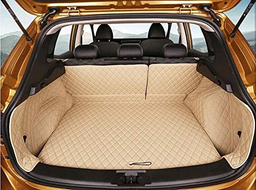 ACYCY Spezielle Kofferraummatten Wasserdicht Cargo Liner Kofferraum Teppiche Für Nissan Qashqai J11 2016~2019,Khaki,BlackRed,Khaki