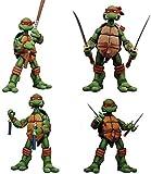 Animación de personajes de acción del PVC Figura 4 Tortugas Ninja 1 Conjunto de juguete móvil Estatua de escritorio del modelo Decoración, PVC Altura Colección decoración del arte del regalo cerca de