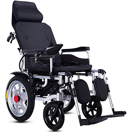 ZXGQF Silla De Ruedas Eléctrica, plegable, con motor, para discapacitados, 360 ??°Silla Ruedas Eléctrica Plegable Y Marco Aluminio- extraíble Pasamanos