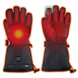 WAMTHUS Electric Heated Gloves, Warm Gloves for Men Women 3 Heating Temperature Adjustable Touchscreen Waterproof Winter Gloves for All Kinds of Outdoor Activities(XL)