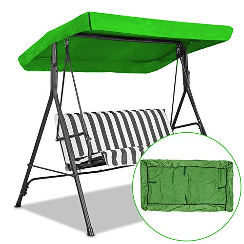 Cubierta de columpio universal impermeable para exteriores, cubierta impermeable y anti-UV, para porche, patio, jardín, patio, 191 x 121 x 18 cm (verde)