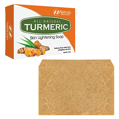 Turmeric Soap Bar for Face & Body - All Natural Turmeric Skin Lightening Soap - Turmeric Face Soap Reduces Acne, Fades Scars & Brightens Skin - 3.5 Oz Turmeric Bar Soap for All Skin Types Made in USA