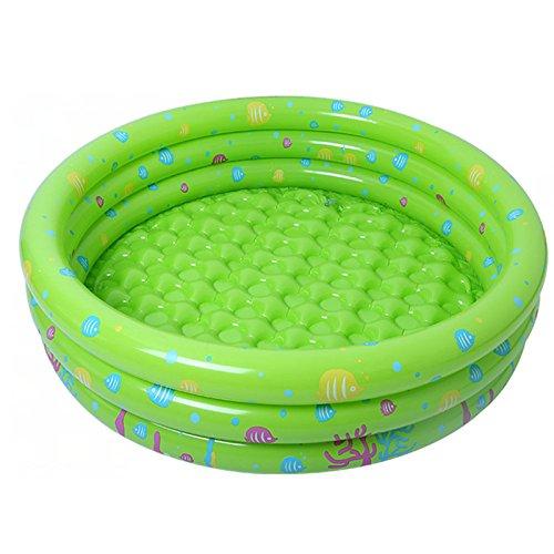 YIREAUD Piscina inflable de tamaño completo para niños al aire libre, centro de juegos de agua para niños pequeños, Verde, 80x80x28cm