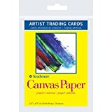 Strathmore Artist Trading Cards 2 1/2 in. x 3 1/2 in. 300 series Canvas paper Pack 10 cards,White