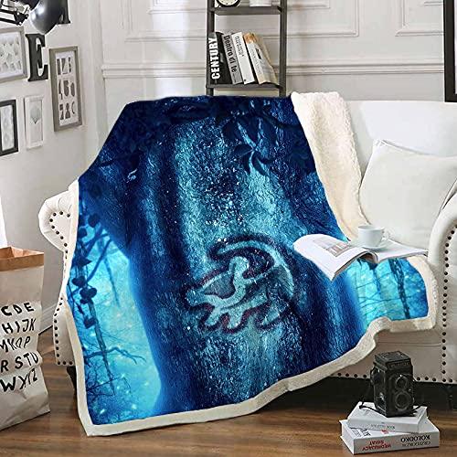 Proxiceen König der Löwen Simba Thema Decke kuscheldecke Flanell Decke Sofadecke Warme tagesdecke (Stil 2,130 x 150 cm)