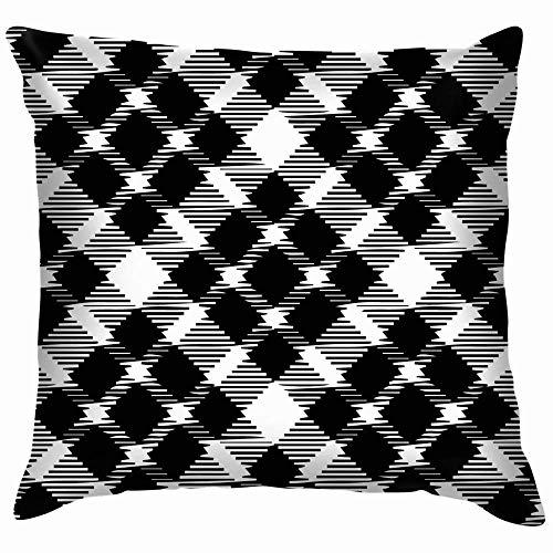 DJNGN Sofa Cushion Case,Luxurious Throw Pillow Cover,Premium Square Pillow,Decorate Pillowcase,Car Pillow Cushion Cover,Tweed Plaid Bold 1950S