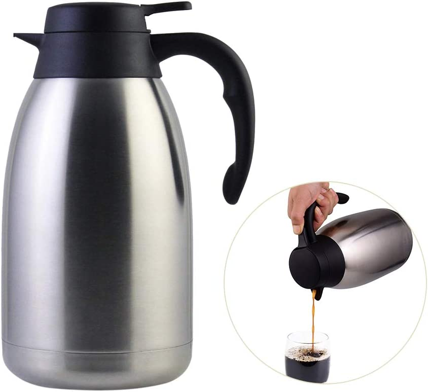 Stainless Steel Thermal Coffee Carafe Vacuum Walled Max 55% OFF Tea Challenge the lowest price of Japan ☆ Double C