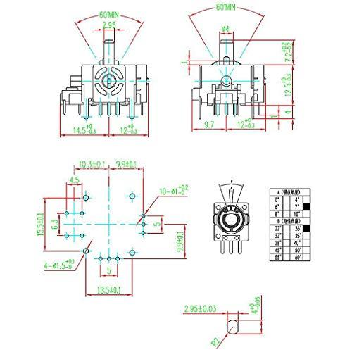 Sweo Game Joystick, 2 Stück 3D Analog Joystick Achse Sensor Modul für Xbox360 PS2 PS3 Contoller Reparatur