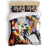 Fadaseo Home Bedding Set 3 Piece Duvet Cover Set Color Zebra Piebald Pony Soft Duvet Cover,Pillow Covers