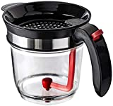 Best 4 Cups Gravy Separator and Fat Separator (32 Ounces) Makes Healthier Gravy, Soup Or Sauce Grease-Free, 1 Liter Measuring Capacity Cup and Strainer Filter, Heat Resistance By Vebo