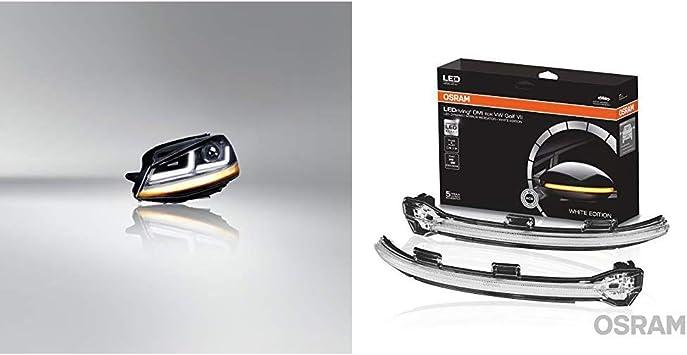 Osram Ledriving Golf 7 Led Scheinwerfer Chrome Edition Als Halogenersatz Zur Umrüstung Auf Led Ledhl103 Cm Leddmi 5g0 Wt S Ledriving Dynamischer Led Spiegelblinker Für Vw Golf Vii White Edition Auto
