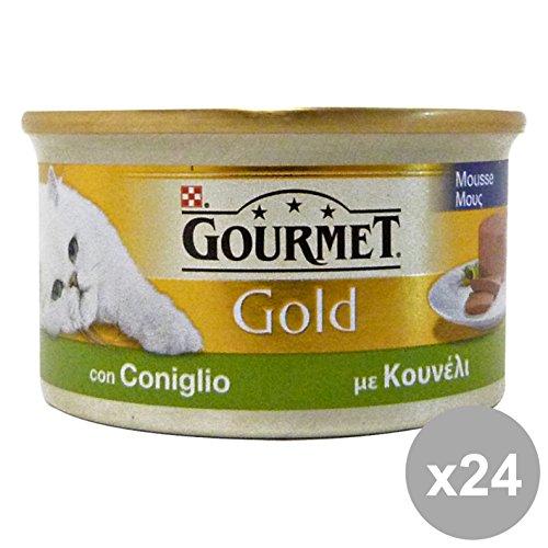 Gourmet Gold Lot de 24 sachets en Mousse pour Chats 85 g