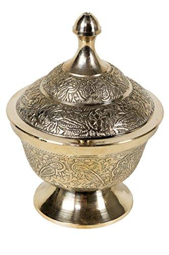 Orientalische Messing Zuckerdose Kadir