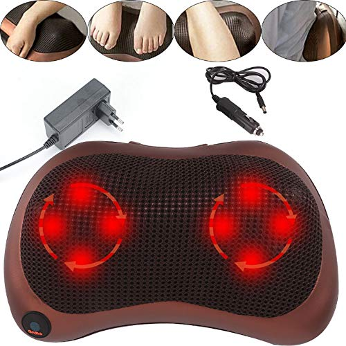 Trintion Massagegerät 3D Massagekissen mit Wärmefunktion 3 Geschwindigkeiten Elektrische Nackenmassagegerät Rotierenden Massage für Nacken Schulter Rücken Muskel Entspannung, für Haus, Büro und Auto