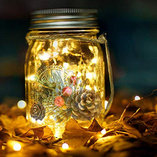 Lámpara de Decoración Solar colgantes solares para tarro de masón con 20...
