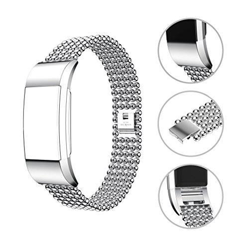 HuaForCity Uhrarmband Wristband für Fitbit Charge 2, für Fitbit Charge 2 Strap, Fitbit Band Smart Uhr Metall Verstellbarer Ersatz Armband für Fitbit Charge 2