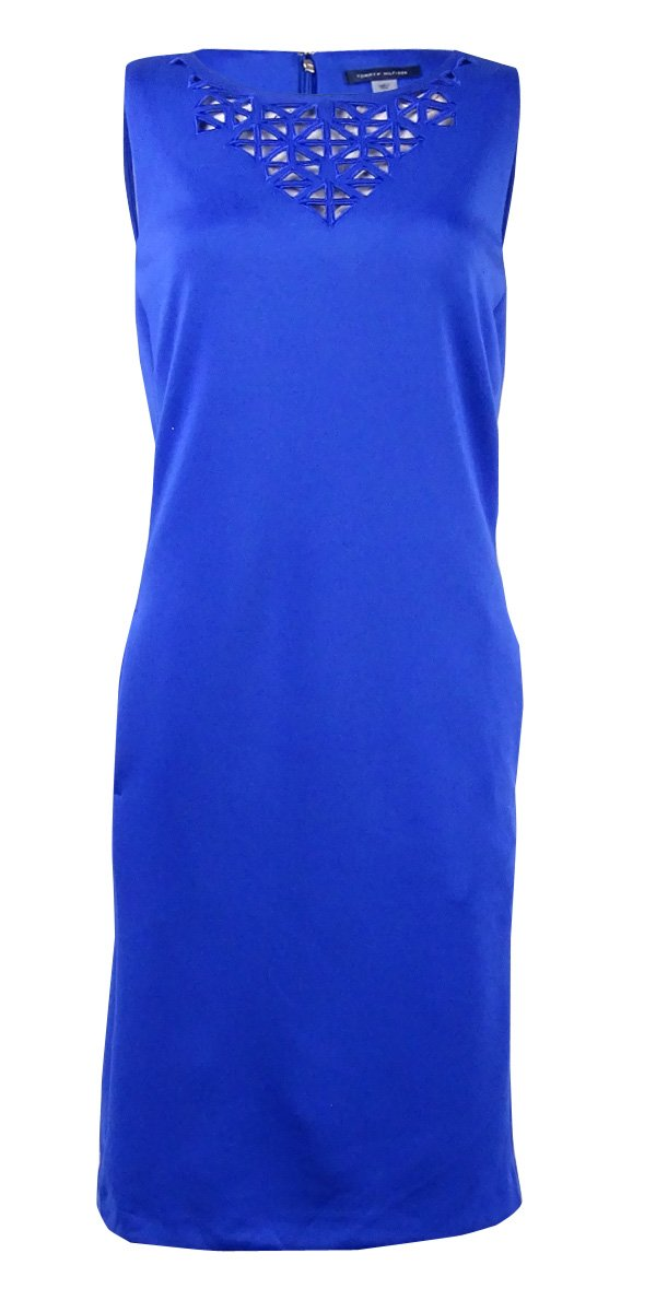 Available at Amazon: Tommy Hilfiger Women's Cutout Pocket Sheath Dress