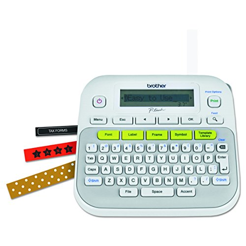 Brother P-touch, PTD210, Easy-to-Use Label Maker, One-Touch Keys,...