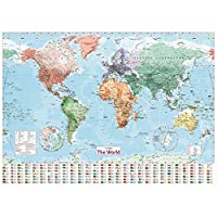 大人のための4000ピースのジグソーパズル世界の山々の地図子供のためのアートパズル挑戦的なパズル難しいパズル家の装飾のためのDIYおもちゃギフト
