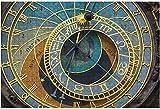 1000 piezas-Reloj astronómico de Praga en la noche Rompecabezas de madera DIY Niños Rompecabezas educativos Regalo de descompresión para adultos Juegos creativos Juguetes Rompecabezas 5