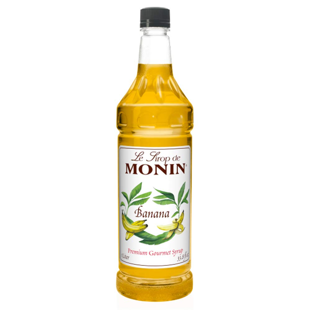 Monin Flavored Syrup Banana Super Special SALE Max 46% OFF held 33.8-Ounce Plastic 1 Bottle liter