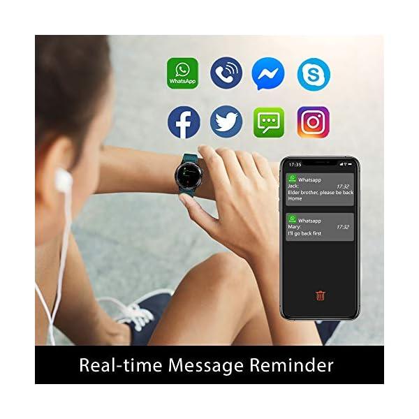 Blackview Smartwatch,Reloj Inteligentes Deportivo Fitness Tracker Hombre Mujer,Impermeable 5ATM Pulsera de Actividad… 5