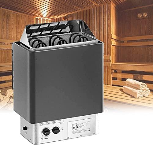 ZRKJ-jl Estufa de calefacción de Sauna, Alta eficiencia Alta Temperatura Resistente fácil de Instalar la Mejor opción para Regalos para Reducir el estrés y la Fatiga, 4.5kw w (Size : 3kw)