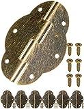 Lot de 6 charnières Fuxxer-Aspect bronze vieilli-Pour porte d'armoire et de placard, coffre, boîte-Style rétro-56 x 42 mm