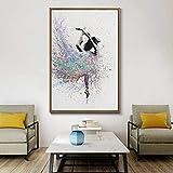 LWJZQT Leinwanddrucke Moderne Aquarell Balletttänzerin