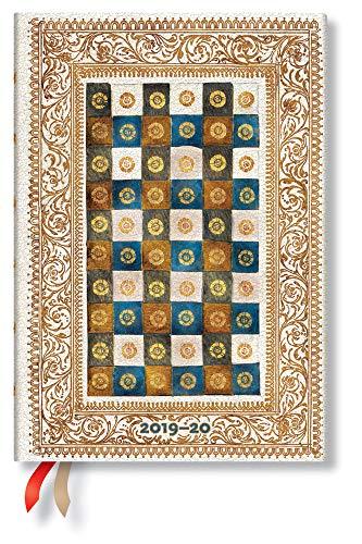 Paperblanks Planificador de 18 meses y calendario con tapa flexible | Julio 2019 – diciembre 2020 | Aureo | Semana semana (horizontal) | Midi (180 x 130 mm) 9781439762554