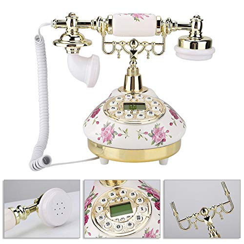 Teléfono Retro Vintage - Teléfono Antiguo de Alta Gama - MS-9101 Teléfono Antiguo Vintage de imitación Retro para Uso en el hogar